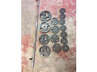 Weight training cast iron weights 48kg