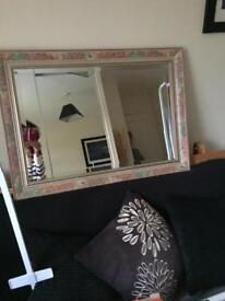 Large bevelled edged mirror