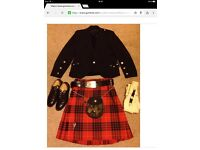 Mens Kilt , Jacket and accessories
