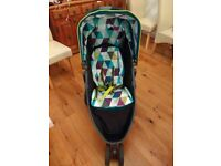 Graco Evo Mini Stroller Pushchair Light weight Compact Limited Edition Harlequin