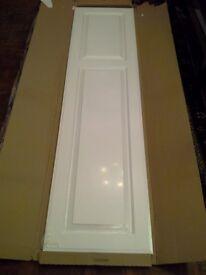 2 x White doors 50cm wide X 200cm high to fit a B&Q wardrobe