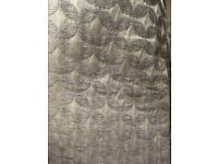 Grey/ silver patterned blackout curtains