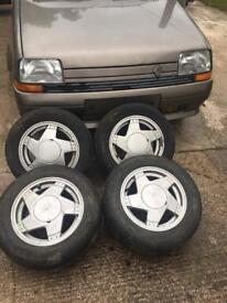 "Renault 5 GT Turbo alloys 14"" 4x100"