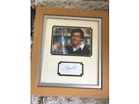 Seven Ballesteros autographed framed picture , no longer wanted stored in attic