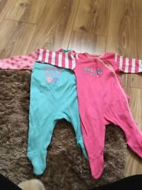 Mothercare sleep suits / babygros