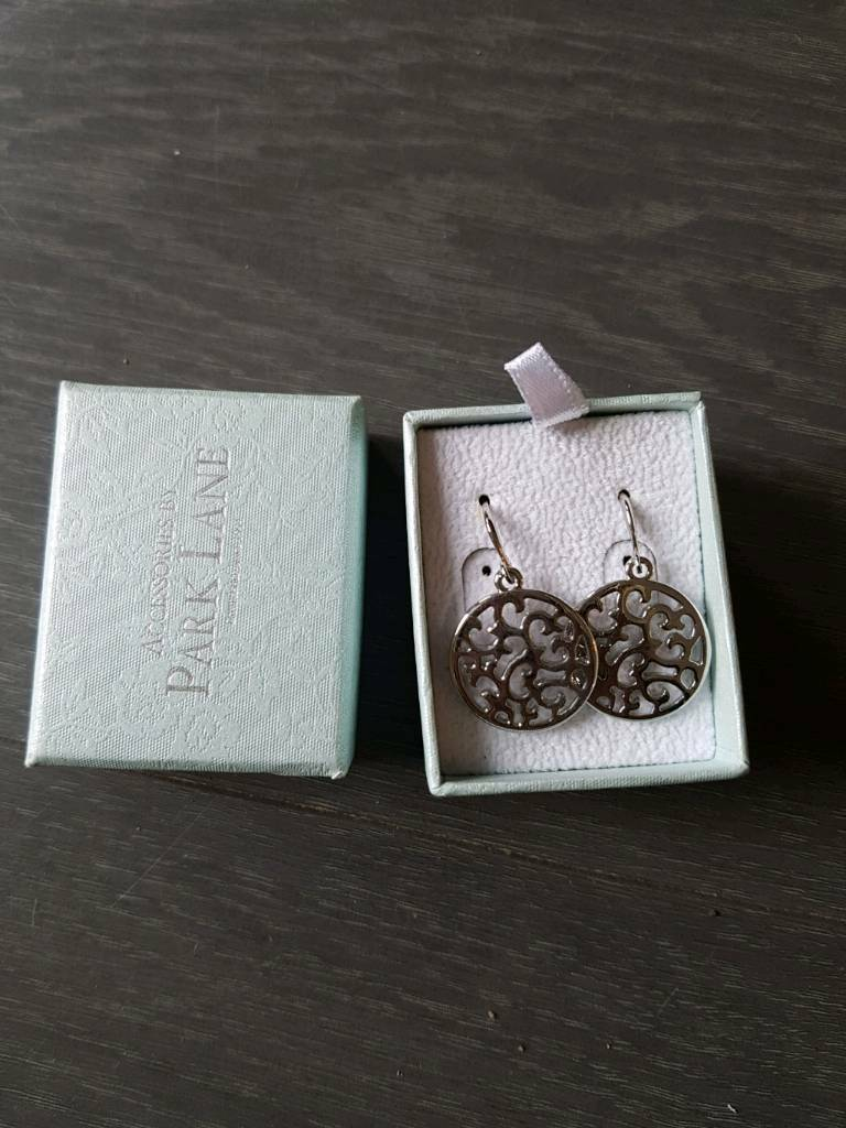 New Park Lane Accessories silver plated patterned earrings