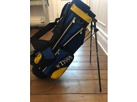 Junior golf club set with bag, cover and tiger golf sock.