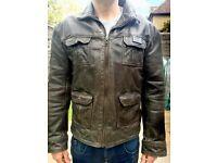 "Leather Jacket - ""Superdry"" Vintage style."
