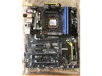 MSI Z77 MPOWER Motherboard & 3570K Intel chip & 8GB Kingston Hyperx DDR3 Memory