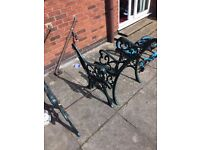 4 Matching Cast Iron Garden Seat Ends (2 pairs)