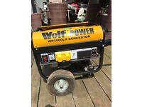 Wolf WP3500LR Petrol Generator as new