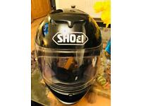 Shoei Black Motorcycle Helmet
