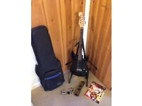Fender Squier Showmaster Guitar for RH player with case, stand, tuner, book, straps and case