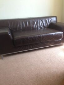 Brown leather sofa can deliver now
