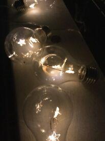 Battery Operated Hanging LED Stars 10 Edision Bulb String Light Lovely Decor