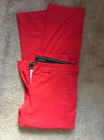 Genuine Galvin Green Golf Trousers in Red