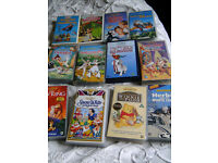 12 Original Disney VHS DVDs + 20 Other Childrens Films
