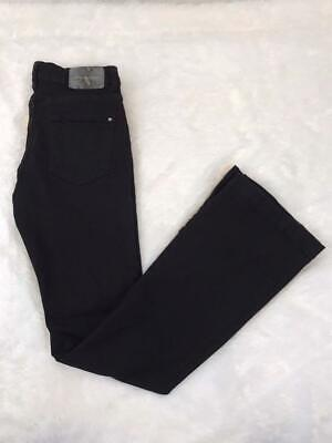 "ZARA Women's Black Button Front High Waisted Flare Jeans Sz US 8 - 32"" INSEAM"