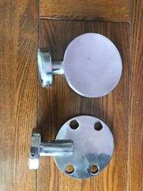 Stainless steel toothbrush holder and soap dish