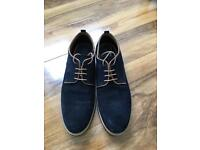 Mens Next Blue suede shoes- size 11