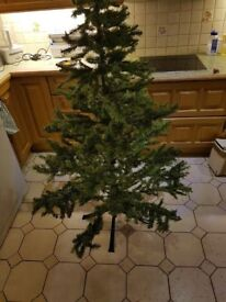 Christmas Tree: Artificial: six foot with some decorations