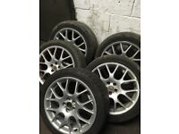 """Rover Mg zt alloys 18"""" with no tyres also fit vauxhall"""