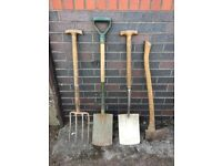 Selection of garden tools.