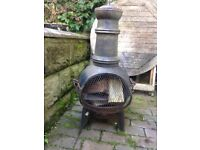 Chiminea - New - complete with logs !!