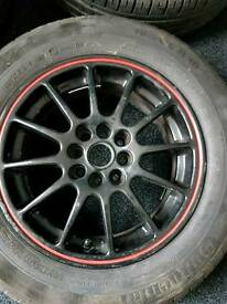 Black alloy wheels 8 stud