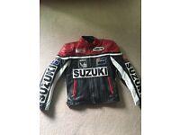 Suzuki racing small adult leather jacket