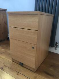 WOODEN FILING CABINET BY CLARES EXCELLENT CONDITION!