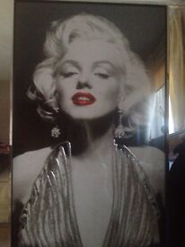 Marilyn Monroe Picture in Glass Frame
