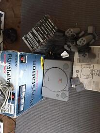 Boxed PlayStation 1 ps1 with games