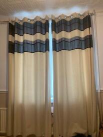 2 pairs of cream curtains