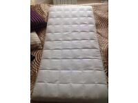 Cot mattress coconut husk and buckwheat hulls