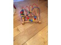 Wooden bead threader/Crazy maze, excellent condition