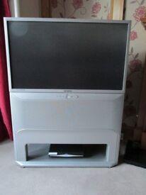 Samsung rear projection TV unit set