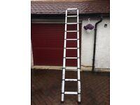 Young man Telescopic loft Ladder