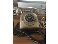Silver Retro Home Phone in full working order