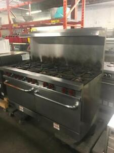 Gas 10 burner stove with 2 ovens for only $2495 ! And 4 burner stove only $795 ( shipping with in Canada )