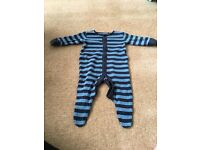 10 Baby Sleepsuits Bundle including Next, Ladybird, Boots and Mothercare 0-3 months.