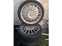 "17"" MG 4 Stud Alloy Wheels x 4 (fits Vauxhall)"