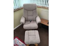 Reclining Massage Chair and Foot Rest