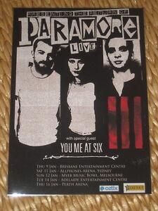 PARAMORE  -  2014  AUSTRALIAN  TOUR  -  PROMO TOUR POSTER