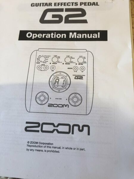 ZOOM GUITAR EFFECTS PEDAL G2 for sale  Port Glasgow, Scotland