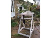 Trip trap style wooden high chair