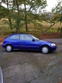 Honda Civic illusion 1.4 3dr hatchback 1998 low mileage