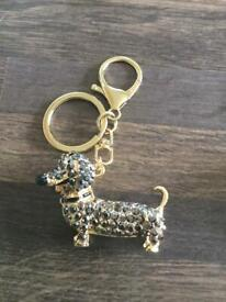 Gorgeous Daschund diamanté Keyrings £4 each. Can post or collect from Tqy.