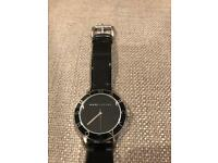 Marc Jacobs woman's black leather watch - good condition