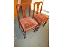 Pair of oak dining chairs CV